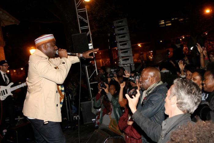 Blitz the Ambassador performing at Soul of Brooklyn Block Party.