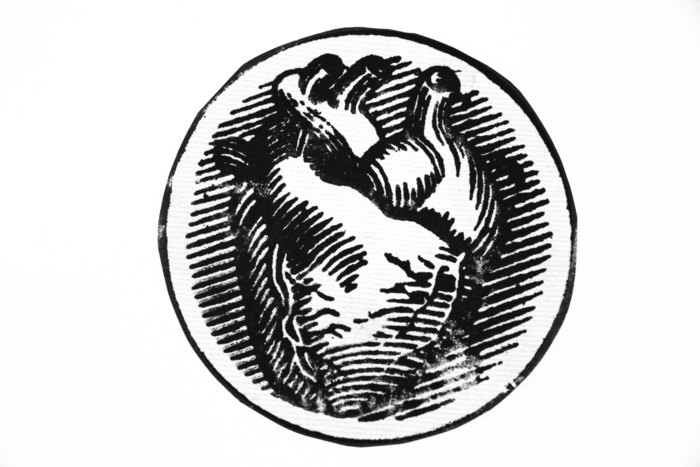 Rubber stamp image of Mercurial productions Logo