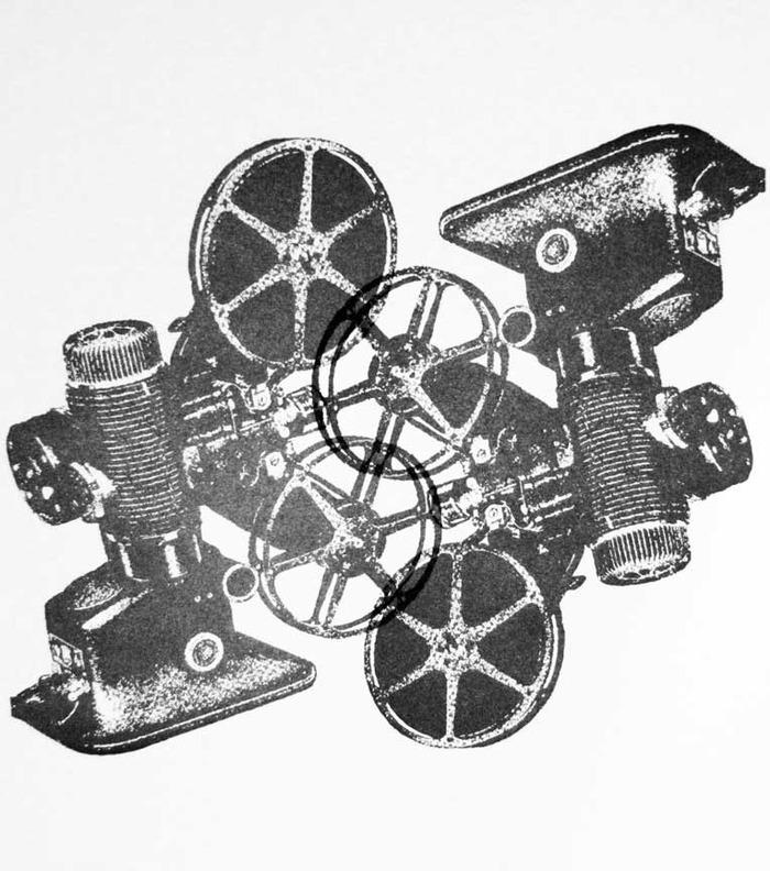 Original Letterpress dualing projectors