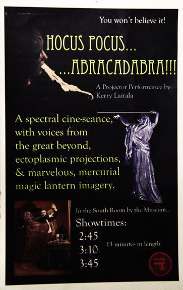 Hocus Pocus poster with DVD of documentation of the expanded cinema performance