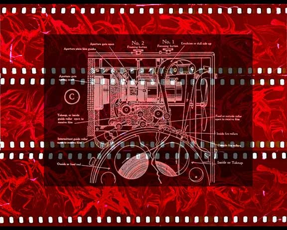 """Collage made with images from the Muse of Cinema- """"Fiery Projector"""""""