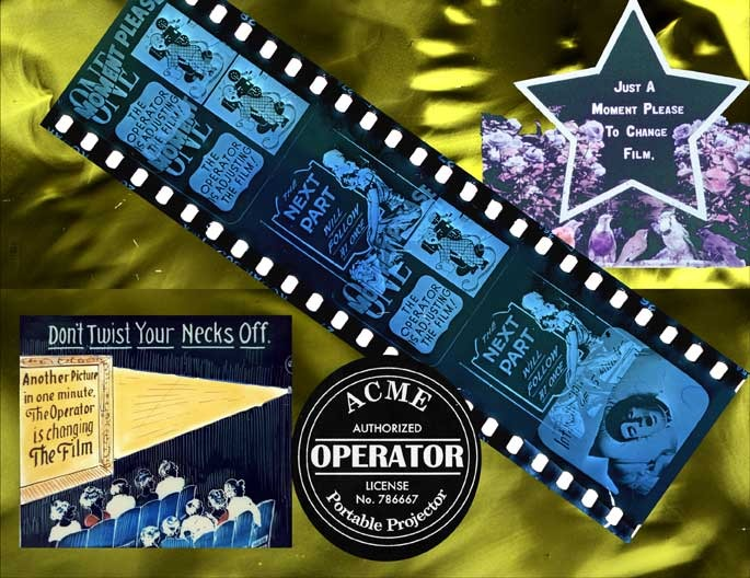 """Collage made from images from the Muse of Cinema-2004, """"Acme Projectionist"""""""