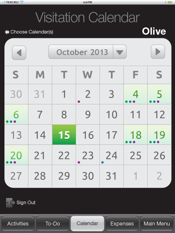 Calendar - Layout Concept #3