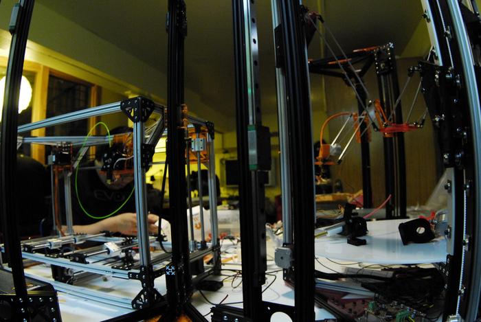 Multiple OpenBeam based 3D Printers at Metrix