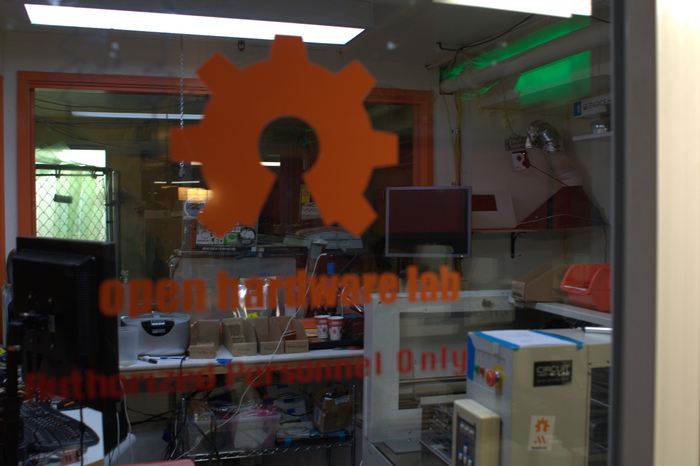 The Metrix Open Hardware Lab, with its pick and place machine