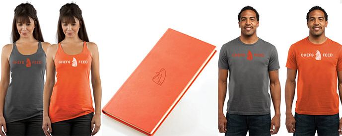 A peek at our new Chefs Feed shirts and, of course, the guidebook!