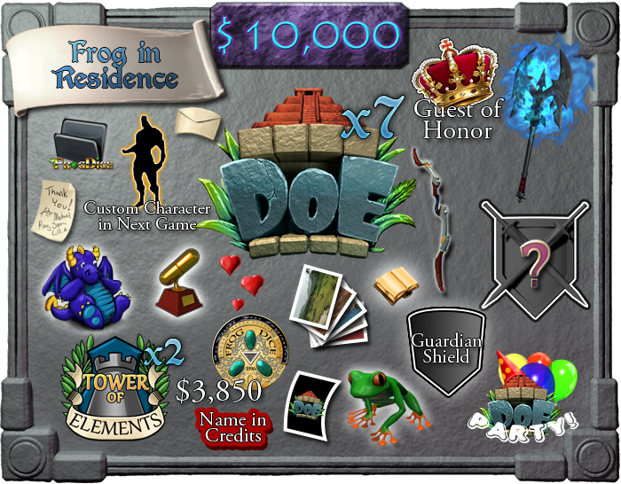 $10,000 - Frog in Residence (limit 2)