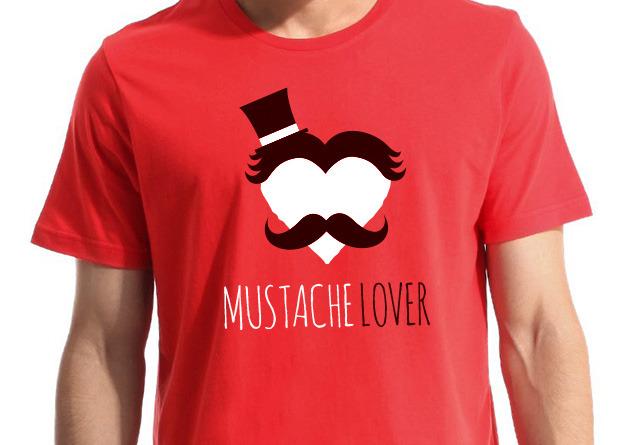 """""""Mustache Lover"""" T-shirt"""
