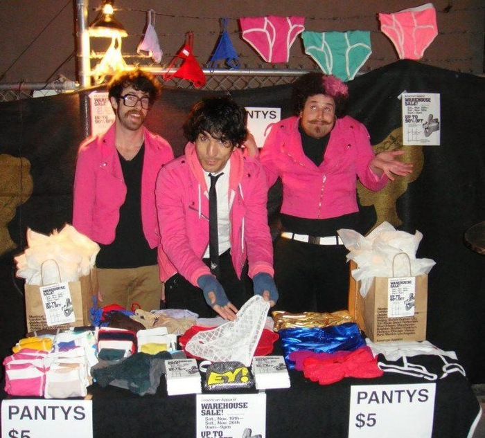 When we toured Vegas, American Apparel sold panties at our gig.