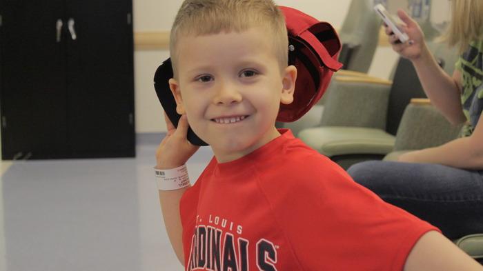 Brooks playing around before chemo.