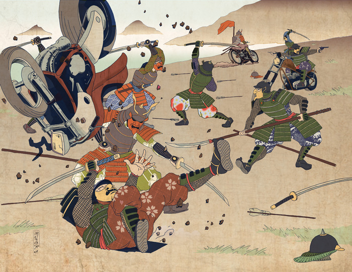 The Battle, by Rick Marcks (from the Motobushido RPG)