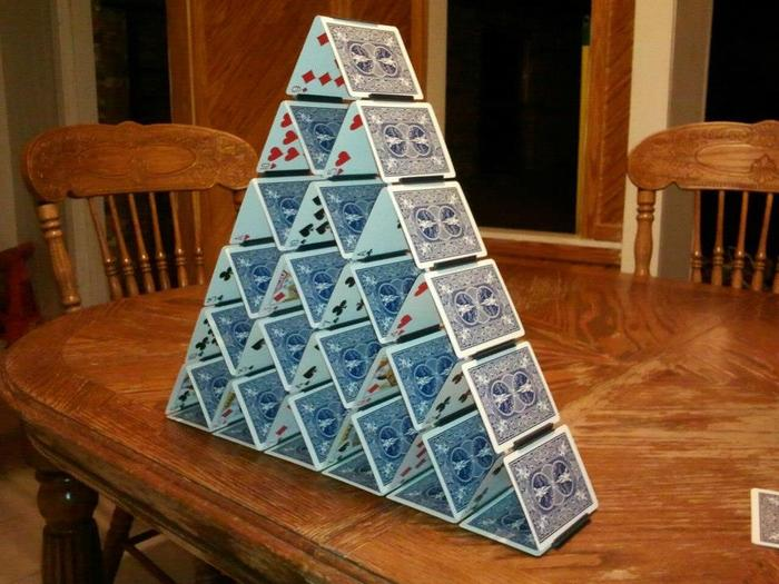 Lastly, here is a semi-traditional House of Cards.