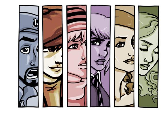 Six characters, six unique stories.