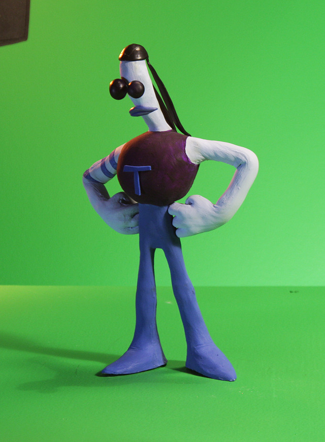 Tommynaut stop-motion production puppet