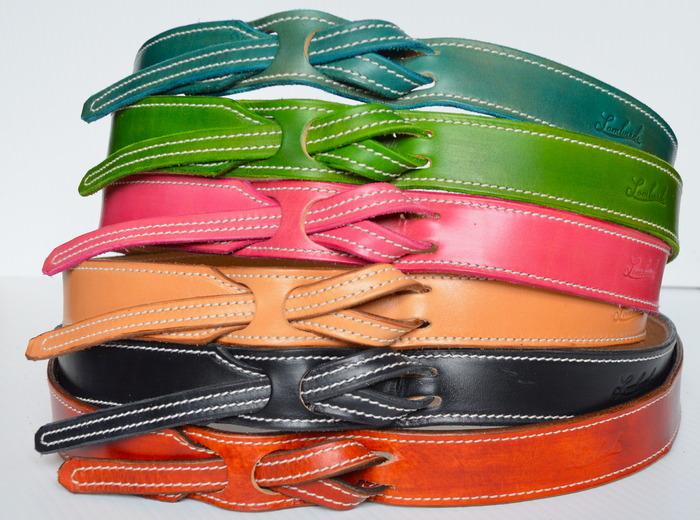 Lombardi Leather Buckle-Less Belt