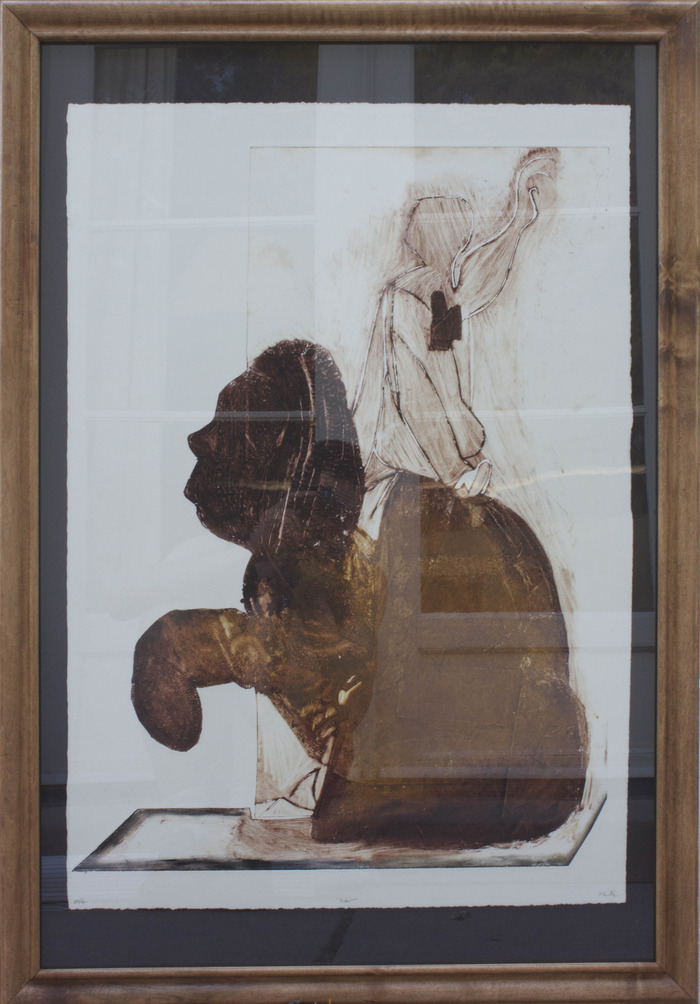 Rider - framed collagraph on paper - 27'' x 39'' - $350