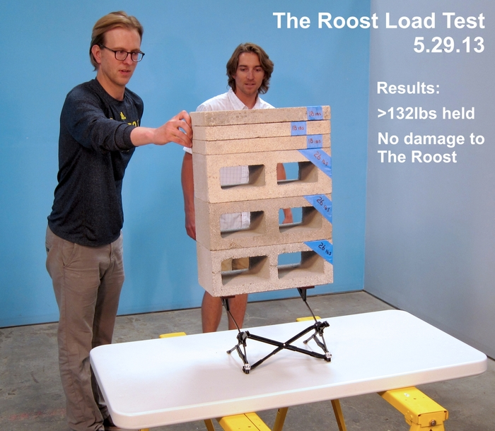 The Roost - Holding 132lbs of cinder blocks