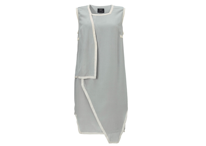 FRONT - Pledge $229 and select the SILK DRESS (GREY) PLAN 1 to get this piece - retail price $399