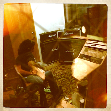 jeff a-trackin' at frogville studios