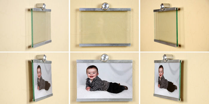 """Displayed here is Horizontal 5""""x7"""" Wall Mounted Photo Frame"""