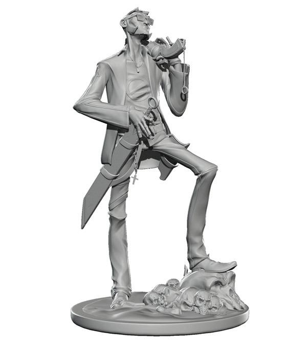 Tommy Boy 7-inch vinyl figurine. Greyscale edition.