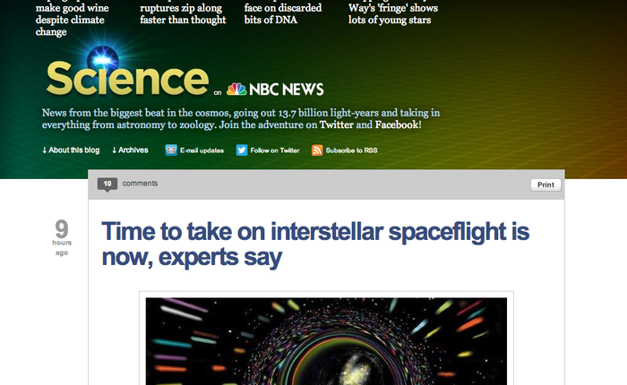 NBC News Science—this is better than CNN!