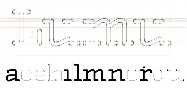 Lumu typeface to meet our vision, thanks to Domen Fras.