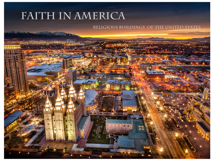 Sunset over SLC Utah and Temple Square