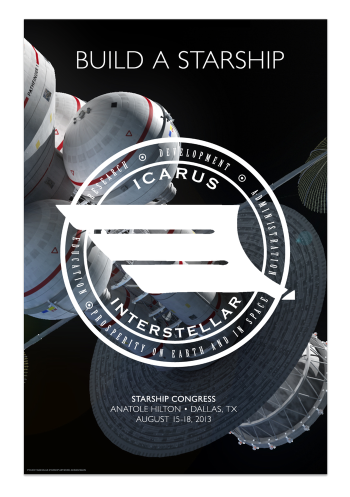 Official limited-edition, first-ever BUILD A STARSHIP Starship Congress 2013 commemorative poster! (Check out the Kubrick-esque design. Nice, huh?)