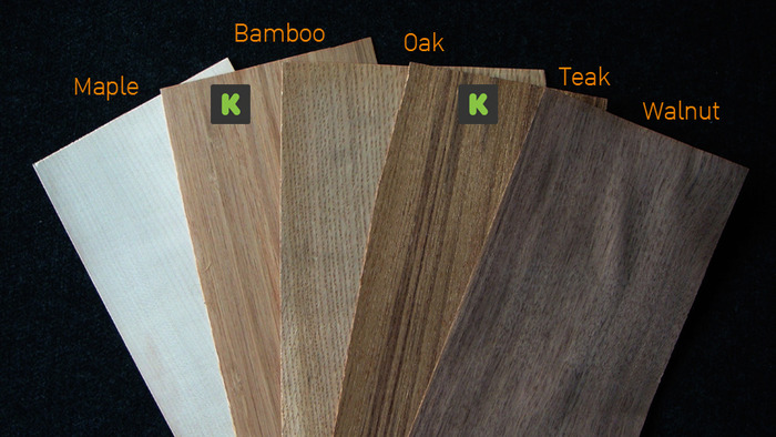 Wood textures for both lamps. Bamboo and Teak is for special Kickstarter version. The wood options will be chosen from backer after the campaign done in our survey form.