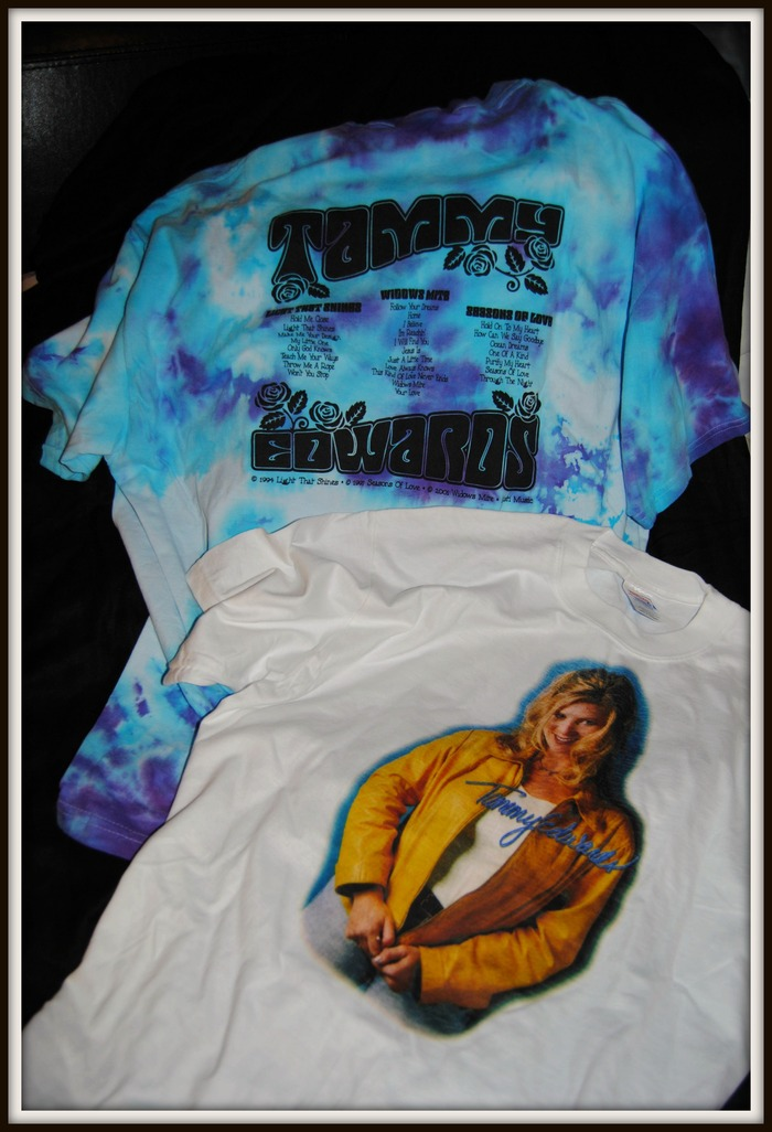 Tammy T-Shirts Tie-dyed (colors vary) and White (Same design on front and back of all)