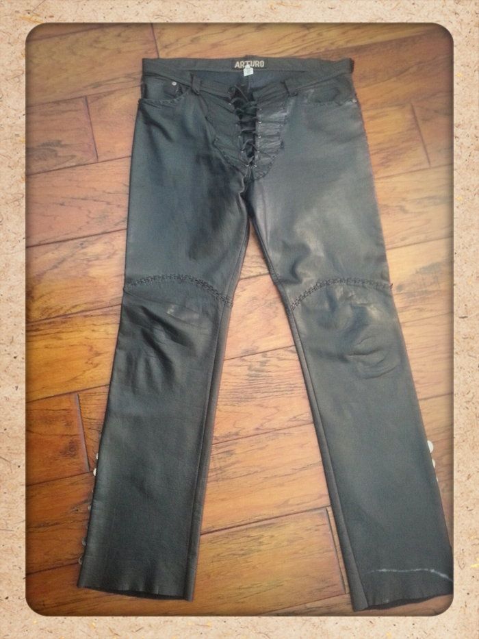 One Of A Kind  Leather Pants Made Exclusively for Chuck Negron