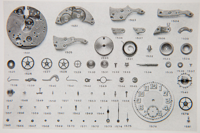 movement parts from A.Manzoni & Fils 12''' caliber