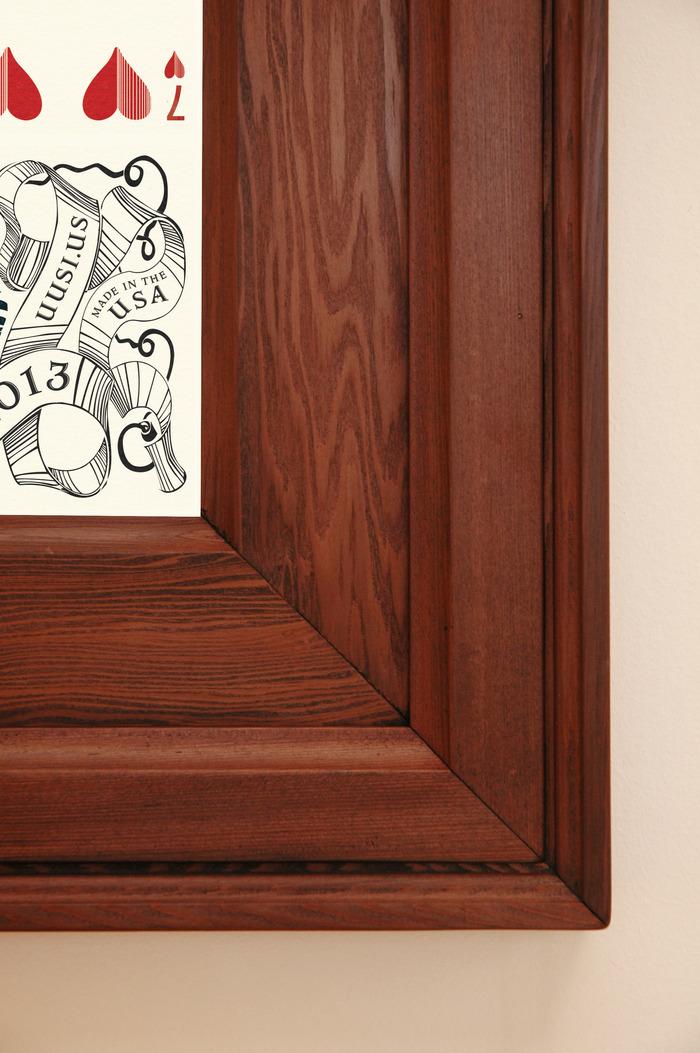 Detail shot of custom frame.