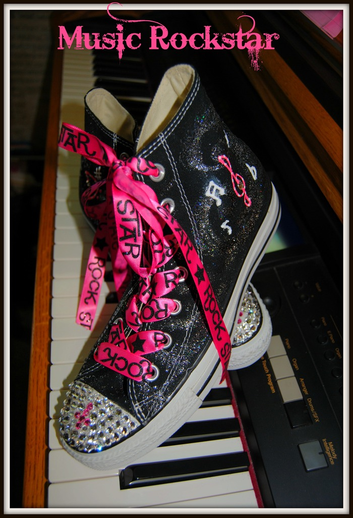 Blinged out Converse Tennis Shoes! Any color, Any size! You name it!