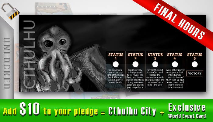 $10 - Cthulhu City + Exclusive Cthulhu World Event Card