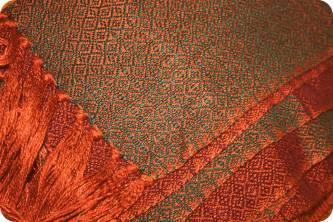 Handwoven bamboo scarf
