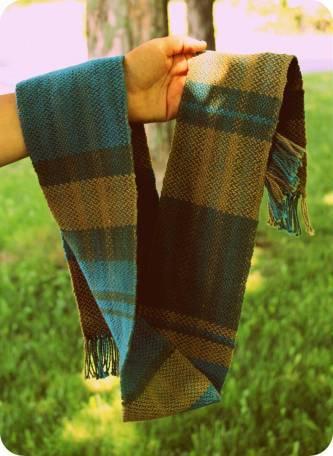 Handwoven cotton scarf