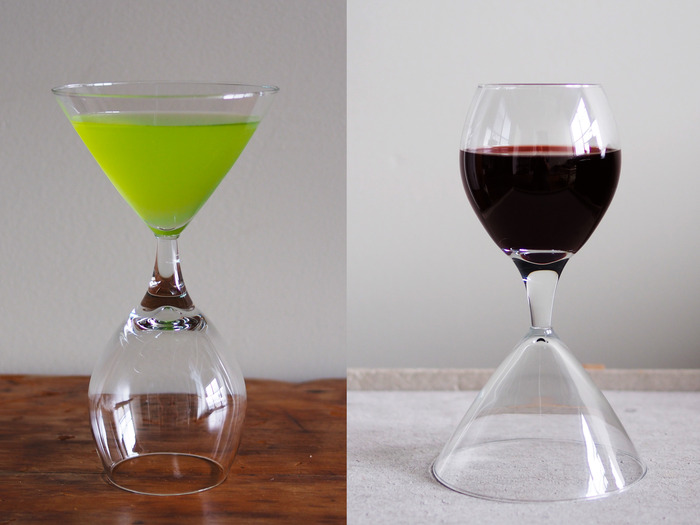 The Inverto Wine-Cocktail Glass (only available to Nobel Prize level backers)