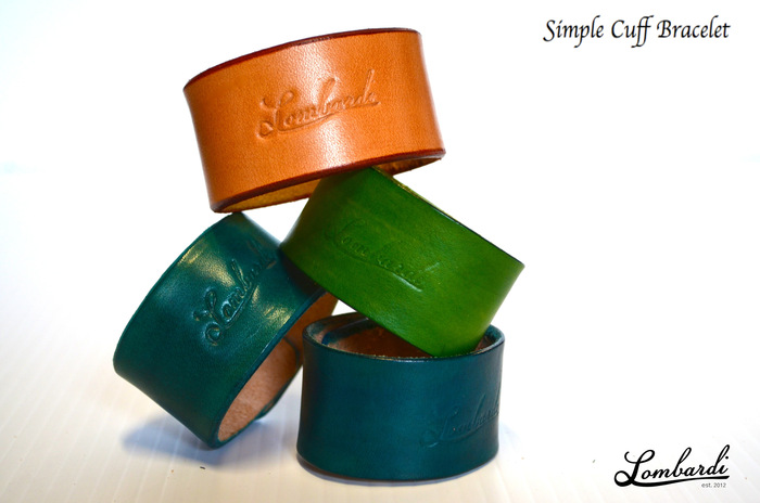 Lombardi Leather Simple Cuff Bracelet