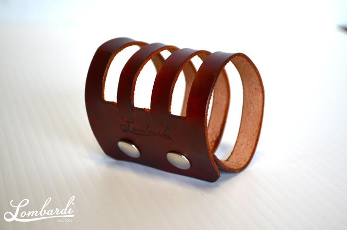Lombardi Leather Four-Band Bracelet