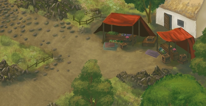 A screenshot of the updated art style.