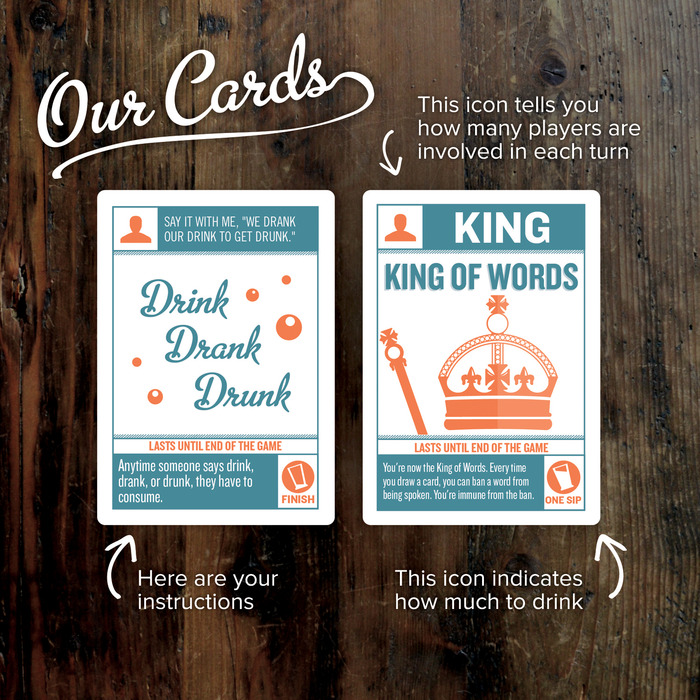 Our cards: swanky, sexy, bubbly.