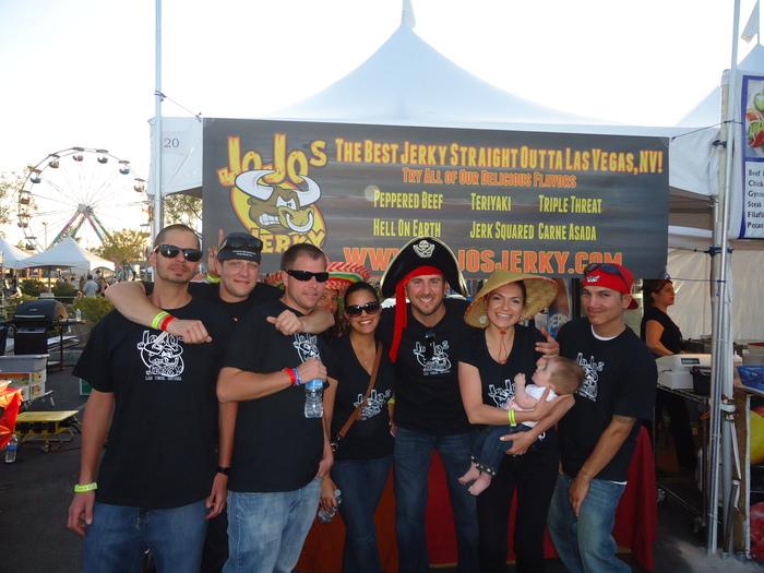 JoJo's Jerky team at Las Vegas Foodie Fest 2012