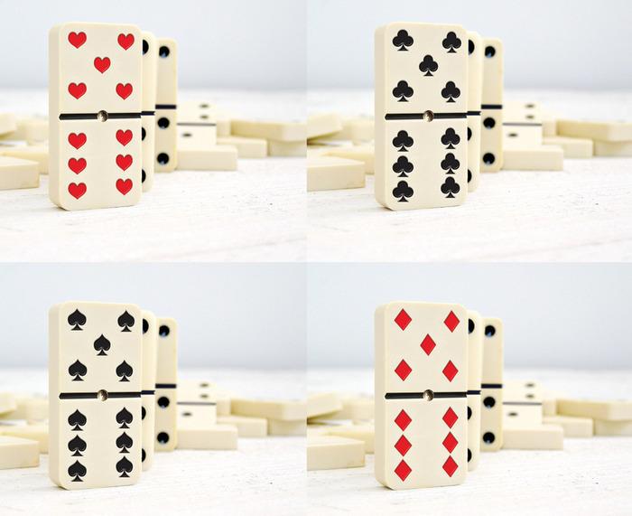 4 Styles of Dominoker Set