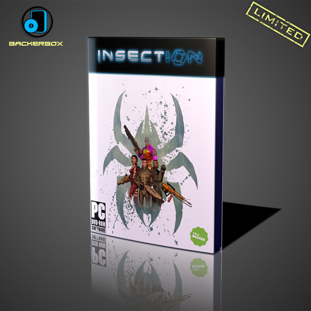 You will receive the amazing BackerBox, containing a physical copy of INSECTION, designed exclusively for Kickstarter Backers