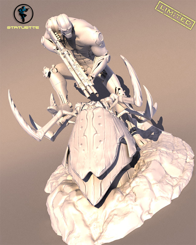 Statuette of Dante in an action pose, inspired directly by our Concept Artist (Limited and numbered Kickstarter Models)