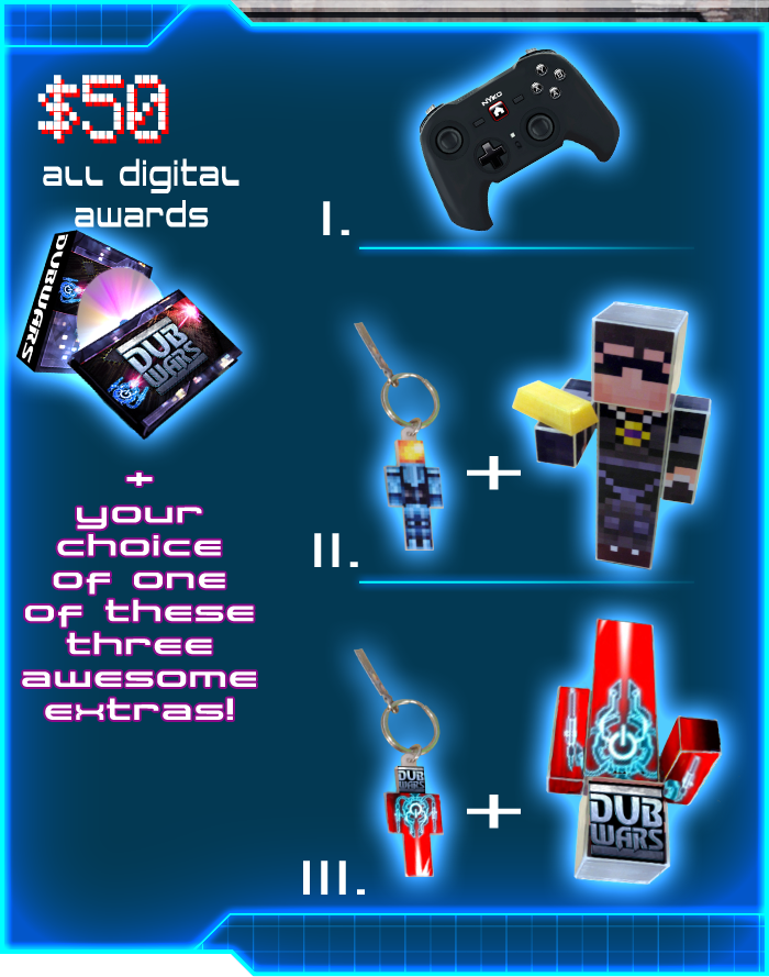 Snag All the Digital Rewards, Then Choose Between a NYKO PlayPad Pro Controller or a Set of Collectible Key Chains + Action Figures (DubWars or Team Crafted)