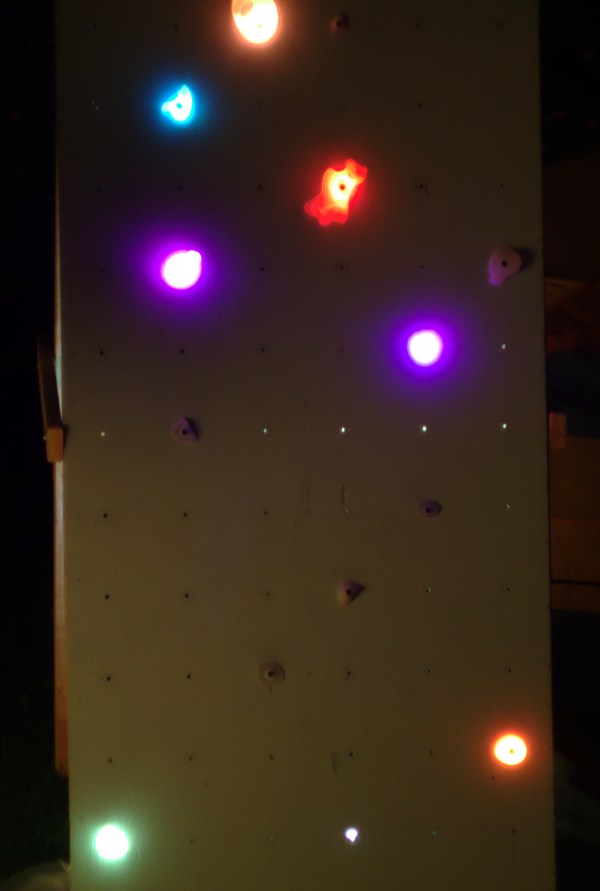 A photo of the wall we built for testing software (small enough to fit in our backyard).
