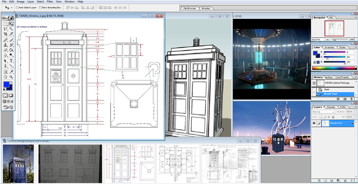 Various images of the TARDIS used in our research.